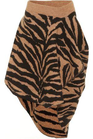 MM6 MAISON MARGIELA Zebra-jacquard miniskirt