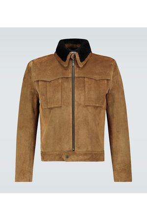 Saint Laurent Suede and shearling jacket