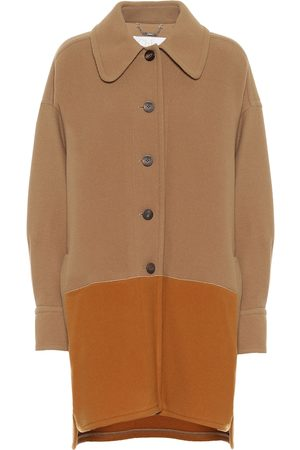 Chloé Colorblocked wool-blend coat