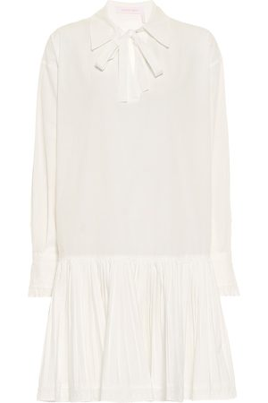 Chloé Drop-waist cotton minidress