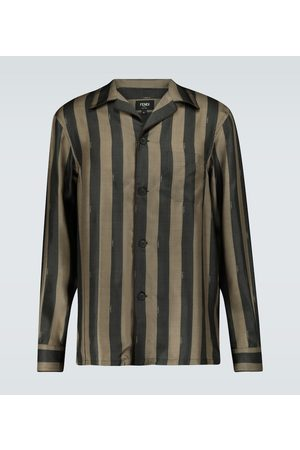 Fendi Striped pajama shirt