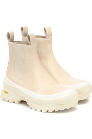 Jil Sander Leather platform Chelsea boots