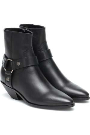 Saint Laurent West 45 leather ankle boots
