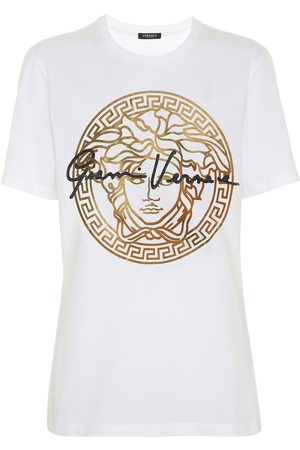 VERSACE GV Signature Medusa cotton T-shirt