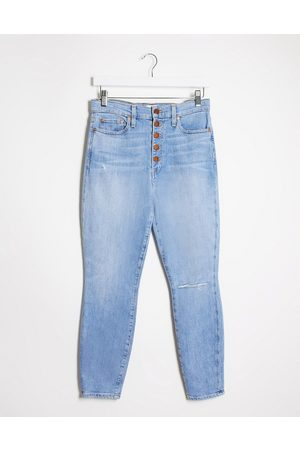 ALICE+OLIVIA Jeans high rise skinny jeans with exposed buttons in