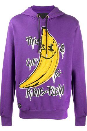 Philipp Plein Men Hoodies - King Plein hooded sweatshirt