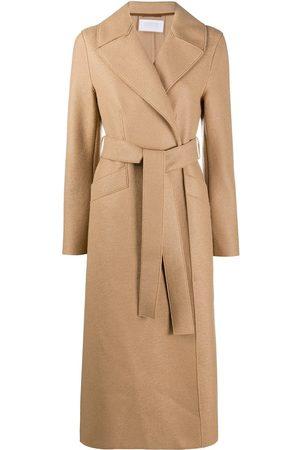 Harris Wharf London Women Coats - Wrap-around virgin wool coat - NEUTRALS