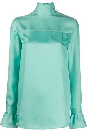 Victoria Victoria Beckham Satin high-neck blouse