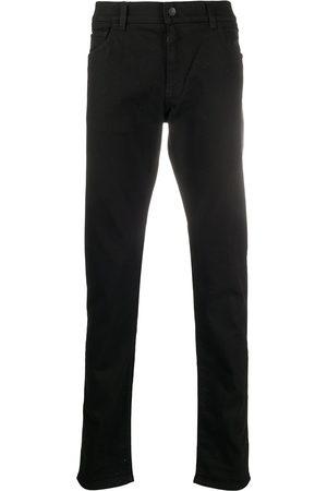 Dolce & Gabbana Men Skinny - Logo-patch straight-leg jeans