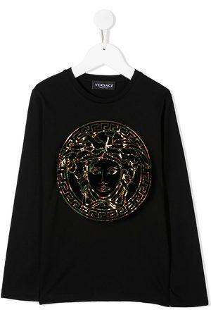 VERSACE Girls T-shirts - Iridescent Medusa logo T-shirt
