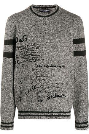 Dolce & Gabbana Graphic-print cashmere jumper