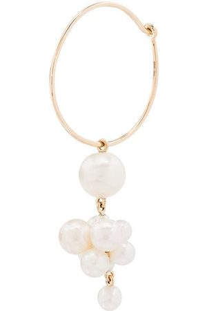 SOPHIE BILLE BRAHE 14kt Botticelli pearl hoop single earring