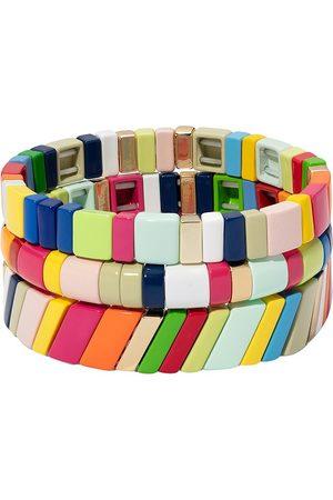 Roxanne Assoulin Fruit Stripe set of three bracelets