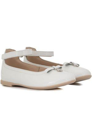 Emporio Armani Heart charm bow ballerinas