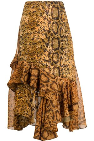THORNTON BREGAZZI Ruffle midi-skirt