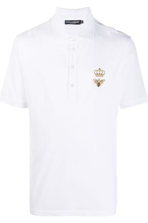 Dolce & Gabbana Embroidered emblem polo shirt
