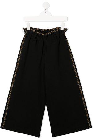 Fendi Girls Wide Leg Pants - Wide-leg trousers