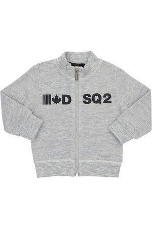 Dsquared2 Logo Printed Cotton Zip-up Sweatshirt