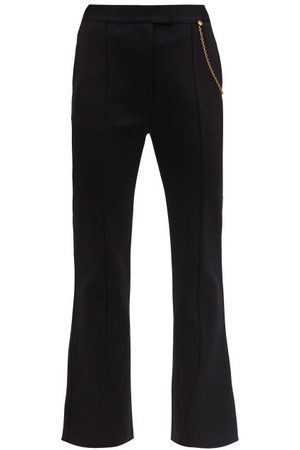 Givenchy Draped-chain Kick-flare Tailored Trousers - Womens