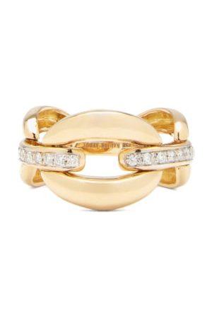 Nadine Aysoy Women Rings - Catena Diamond & 18kt Ring - Womens