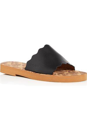See by Chloé Women Sandals - Women's Essie Scalloped Slide Sandals