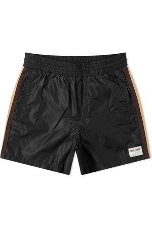Gucci Men Swim Shorts - Taped Detail Swim Short