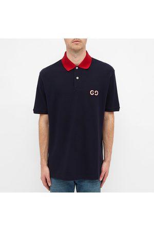 Gucci Contrast Collar Logo Polo