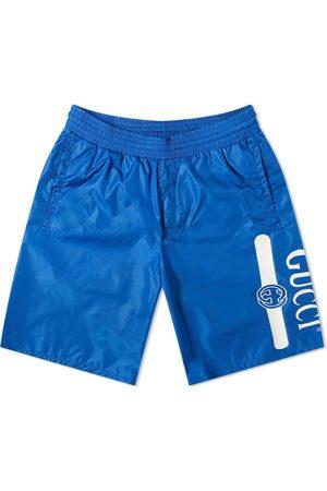 Gucci Men Swim Shorts - Logo Leg Swim Short