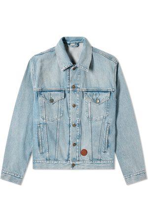 Gucci Men Denim Jackets - Patch Logo Denim Jacket