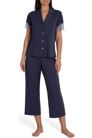 Midnight Bakery Women's Camille Lace Trim Pajamas