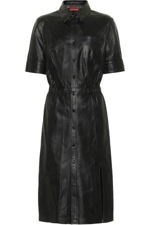 Altuzarra Nori leather shirt dress