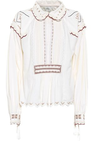 Etro Embroidered cotton blouse