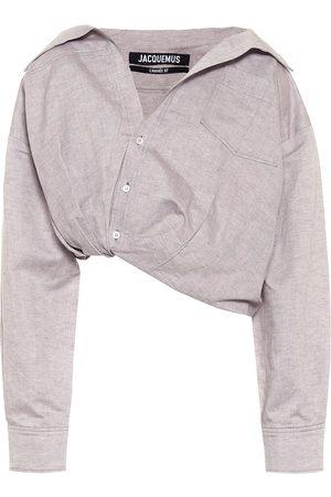 Jacquemus La Chemise Mejean linen and cotton shirt