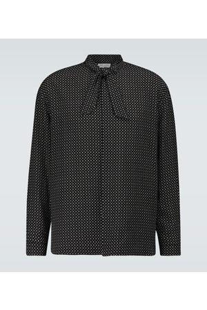 Saint Laurent Lavallière neck-tie silk shirt