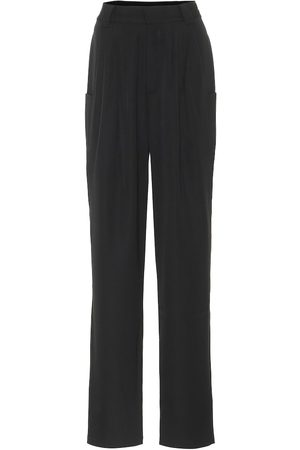 Alessandra Rich High-rise virgin wool pants