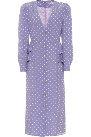 Alessandra Rich Polka-dot silk midi dress