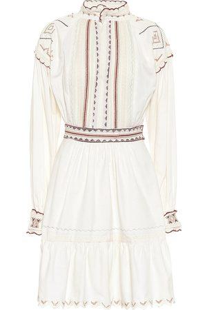 Etro Embroidered cotton minidress