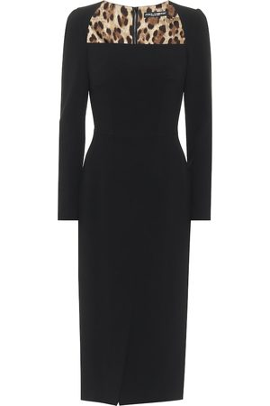 Dolce & Gabbana Square-neck cady midi dress
