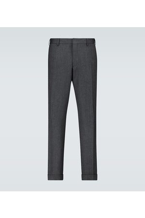 DRIES VAN NOTEN Herringbone wool pants