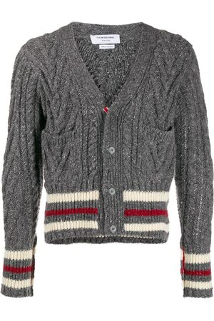 Thom Browne Aran Cable V-neck cardigan - Grey