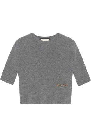 Gucci Horsebit-embellished knitted top - Grey