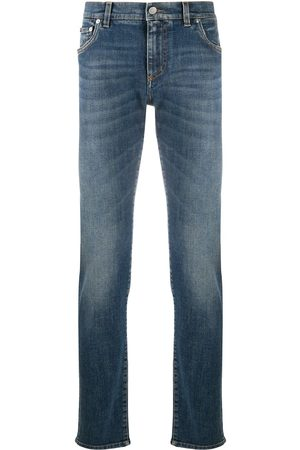Dolce & Gabbana Men Slim - Logo plaque jeans