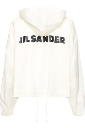 Jil Sander Women Jackets - Cotton Windbreaker Jacket W/ Back Logo