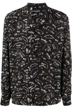 Dolce & Gabbana Logo-print silk shirt