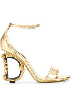 Dolce & Gabbana Baroque logo-heeled sandals