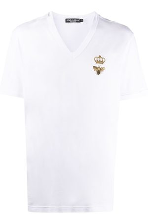 Dolce & Gabbana Crown bee V-neck T-shirt