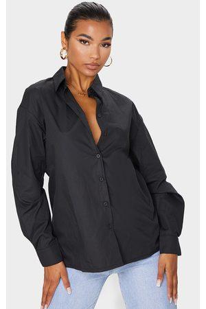 PRETTYLITTLETHING Button Cotton Oversized Shirt