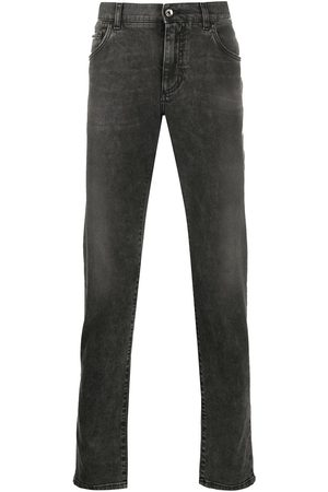 Dolce & Gabbana Lightly distressed slim jeans - Grey