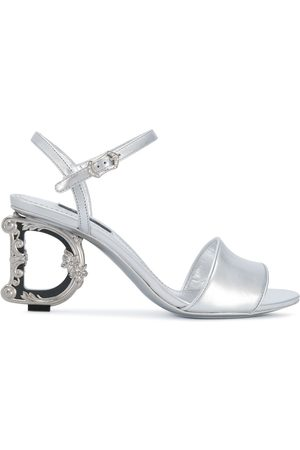 Dolce & Gabbana Women Sandals - Monogram-heel leather sandals