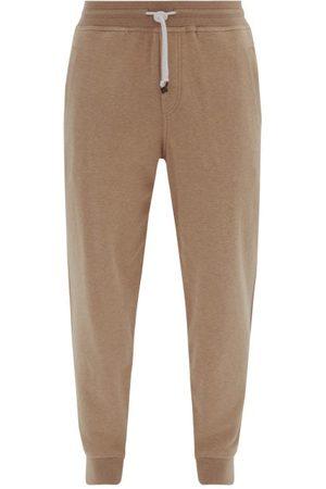 Brunello Cucinelli Men Sweatpants - Ribbed-cuff Cotton-blend Track Pants - Mens